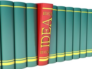 red book with the word idea