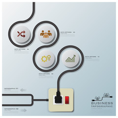 Electric Wire Line Business Infographic
