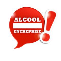 bulle sens interdit : alcool entreprise
