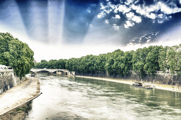 The Tiber river in Rome