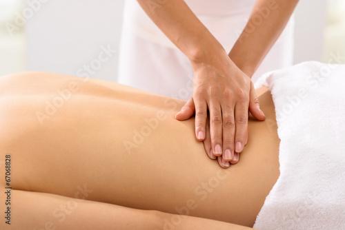 Leinwanddruck Bild Female back massage