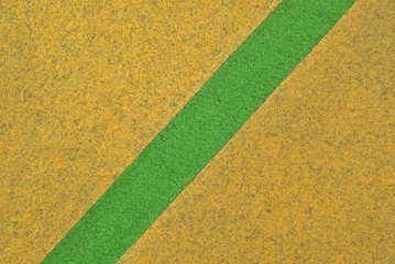 Yellow carpet with green line texture