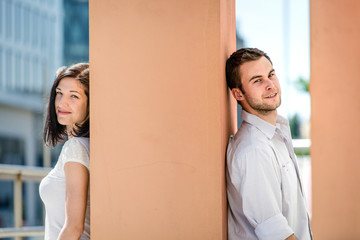 Untraditional couple outdoor portrait