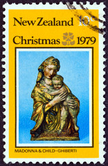 Madonna and Child sculpture, Lorenzo Ghiberti (New Zealand 1979)