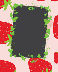 Strawberries frame