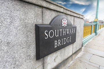 Southwark Bridge sign