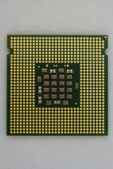 Gold Contacts on Modern Computer Processor