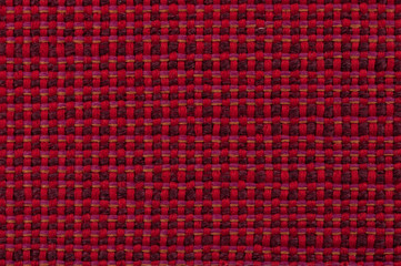 mixed red checked fabric
