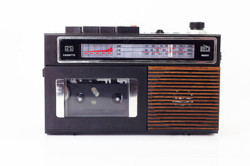 Retro radio and cassette player
