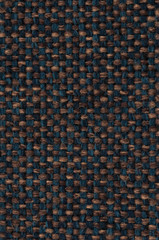 dark petrol blue and brown woven fabric