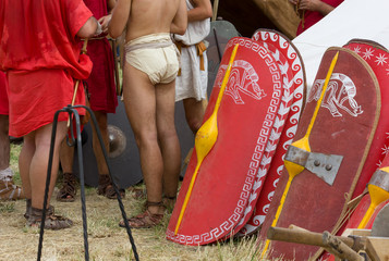 In a Roman Encampment