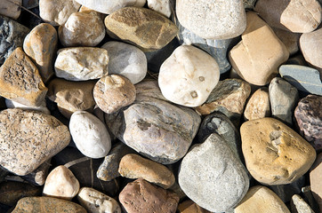 Background of different stones