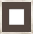 natural square size white wooden photo frame with cut board