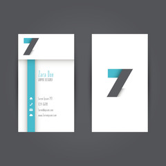 Modern Colorful Business Carde Template with Alphabet Letter Z