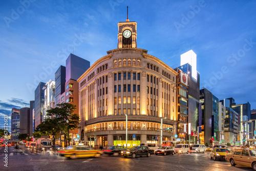 Fotobehang Aziatische Plekken Ginza in Tokyo