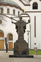 Monument to St. Sava near Cathedral of Saint Sava in Belgrade