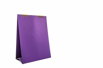 Purple blank paper desk spiral calendar