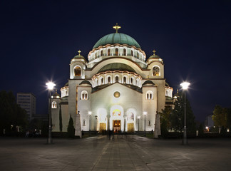 The Cathedral of Saint Sava in Belgrade. Serbia