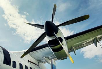 Plane propeller retro style