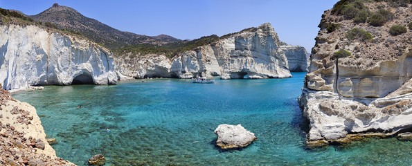 Greek holidays.Milos island.
