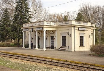 Railway station in Topсider. Serbia