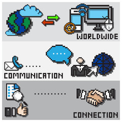 Digital Pixel Communication Design Concept