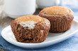 chocolate cakes with cheese filling