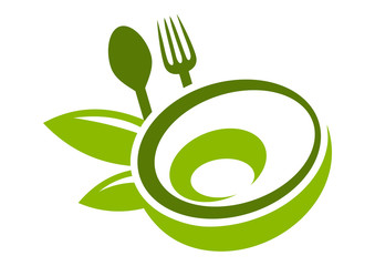 Fresh food logo abstract restaurant design