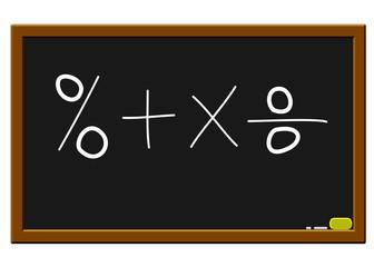 % 4 X yazı tahtasında