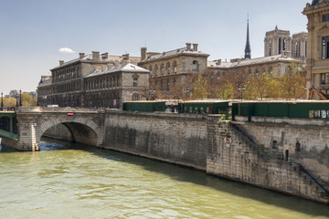 View of Seine River and Cite Island - Paris, France, Europe.