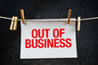 Out of business note printed on paper - 67075214