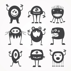 silhouettes of monsters