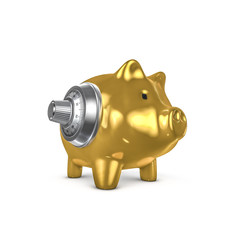 Combination piggy bank