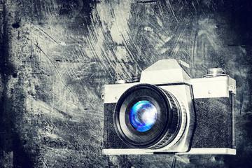 grungy retro camera
