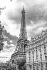 Tower and building in Paris