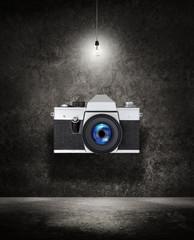 camera under light