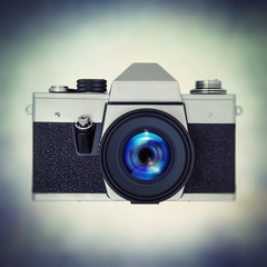 retro slr film camera