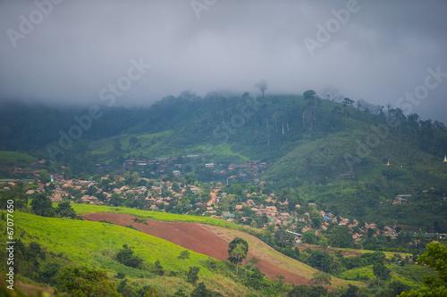 Hill tribe village in Tak in Northern Thailand