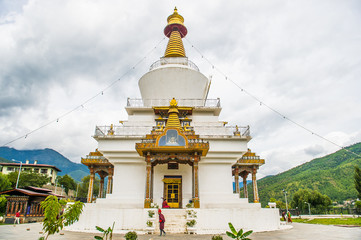 national memorial chorten in thimphu, bhutan