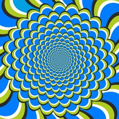 Optical illusion flow and spin
