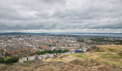 Wide view of Edinburgh skyline