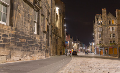 Royal Mile at night, Edinburgh