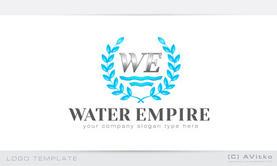Vector logo template, water, luxury, business