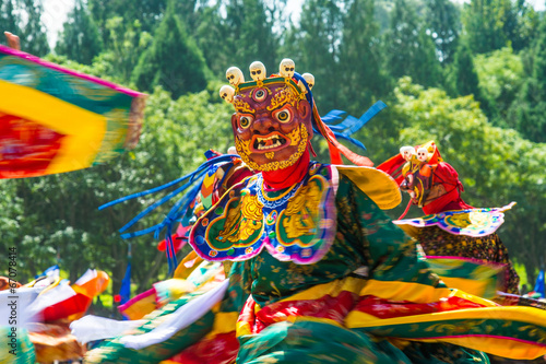 Deurstickers Overige Tsechu Festival in Thimphu, Bhutan