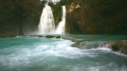 Minas Viejas waterfalls. Huasteca San Luis Potosí. Mexico.