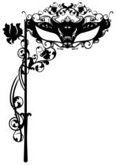 invitation to masquerade party - carnival ornate mask