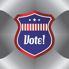vote and election label theme