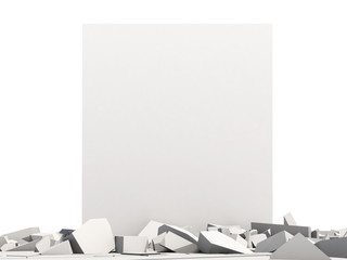 Abstract Illustration of Solid Concrete Block