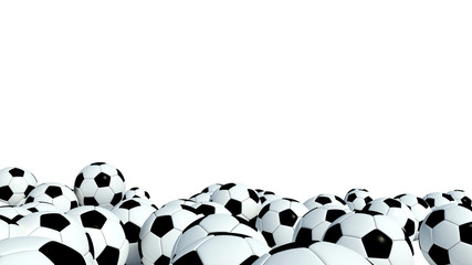Soccer Balls on white background
