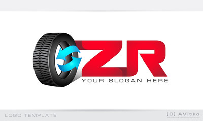 Logo template, tire, tyre, cars, pitstop, repair, tuning